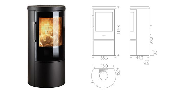 hwam 3640 hwam 3660 kaminofen mit hwam automatik kamine wein. Black Bedroom Furniture Sets. Home Design Ideas
