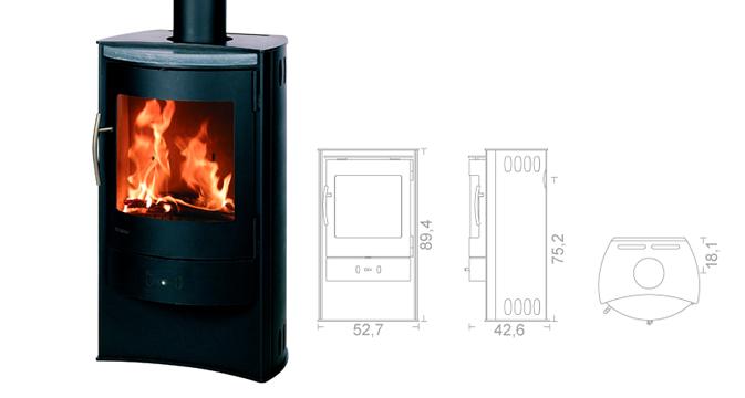 wiking nordic 7 heizleistung 4 10 kw bei kamine wein berlin. Black Bedroom Furniture Sets. Home Design Ideas